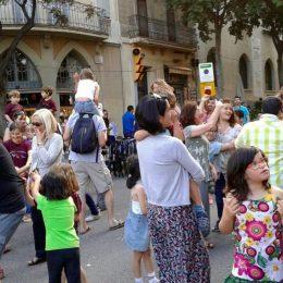 Actuació al carrer Sicília de Barcelona