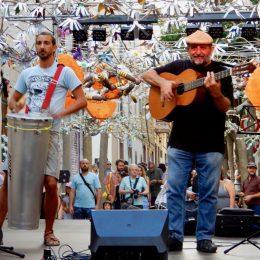Actuació al carrer Joan Blanques de Baix de Gràcia